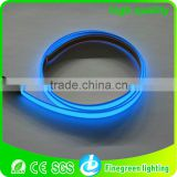 blue color of waterproof electroluminescent tape using for outside decoration