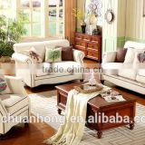 American countryside sofa/Mediterranean style Cotton linen sofa sets/high quality fabric furniture