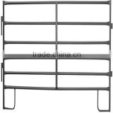 ISO9001 anping factory high quality 2100x1800mm welded tubular temporary corral panel fence 6 bar round horse yard