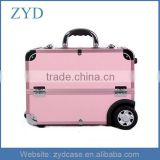 Aluminum Manicure Nail Makeup Carry Case/Case Type Pink Beauty Salon Trolley ZYD-HZ101501