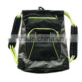 2015 Wholesale easy carry type shoes bag with bright color for sports boy
