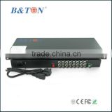 16 channel fiber to video converter with Data/Audio/Ethernet/Telephone/Contact closure