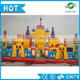 Popular 0.55mm PVC giant inflatable games for sale, adult&kids inflatanble amusement park for sale