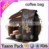 Yason biodegradable valve coffee bags black coffee bag with valve beautiful aluminum foil coffee bag with gusset