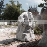 Life size tiger animal statues stone hand carved sculpture for home garden hotel restaurant from Vietnam