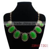Faceted Green Lucite Beads Necklace Jewelry
