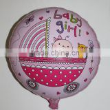 45*45cm round baby stroller balloons baby birthday party supplies baby girl mylar ballons
