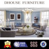 High quality post modern living room furniture sofa with crystal buttons/Chesterfield leather/fabric sofa AL044