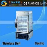 Steamer glass food display cabinets with full visual glass hot food display case (SUNRRY SY-WD500)
