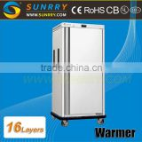 Warmer cart temperature range 78 ~ 82 food warmer cart GN pans 16*2/1 mobile food warmer cart for CE (SY-FWC16W SUNRRY)