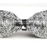 Men's Synthetic Crystal Wedding Pre Tied Bowtie Tuxedo Necktie