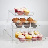 3 tiers slant clear acrylic cupcake stand,acrylic cupcake display cabinet,acrylic cupcake display case