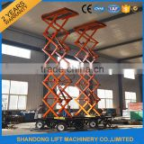 Factory Sale CE hydraulic mobile scissor lift platform price for aerial work