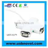 high speed 4 port usb hub with led light