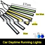 Housing Black 17cm 12V Daylight COB Car LED DRL Waterproof Bumper Decorative Sticker Daytime Running Lights