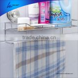 Hot Sale Stainess Steel Hang bathroom towel rack with suction cups