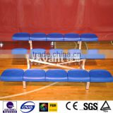 Ango fixed, portable, pernanent metal bleacher, bench,Tip-N roll bleacher, with plastic seats