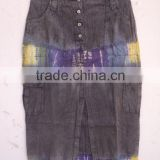 Women Gender and Tie Dye Technics wholesale Knee Above denim skirts Office wear