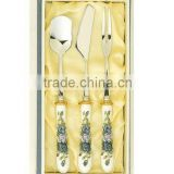 2015 wholesale metal fork spoonset with gift box ceramic/kinds of spoon and fork metal/disposable plastic spoon and fork