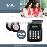 GOLD APOLLO - wireless restaurant paging system Restaurant calling Transmitter and coaster pager system