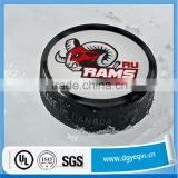 custom design strong adhesive hockey puck adhesive label sticker