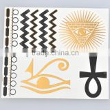 Custom dazzling temporary tattoo sticker for hand waterproof tattoo body stocking shiny body art temporary tattoo