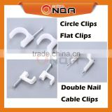 ONQA Electrical Plastic Wall Wire Clips Nail Hook Cable Holder Clip 25mm