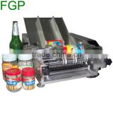 Semi automatic peanut butter bottles wet glue label machinery