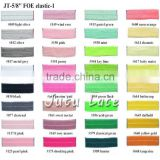 Variety 102Colors Custom printed Stretch Foldover FOE Elastics for Hair Bands