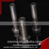 Factory supply fastener all sizes 12m hexagon head bolts