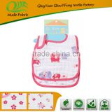 100% organic cotton embriody baby bibs animal shape,100% Cotton Embroidery Muslin Baby Bupry Bibs