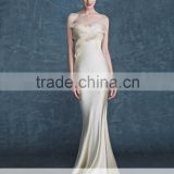 AR-77 Cheap Long Sleeveless longo vestido de noiva sereia Sweetheart White Ivory Champagne Mermaid Bridal Dress