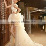 L72-6 New Arrival Latest Design ivory ball gown robe de cocktail front short long back cocktail dress