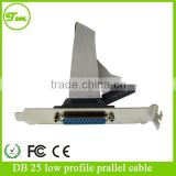 Low Profile 16in Parallel Port Header serial Cable Adapter with Bracket &ndash
