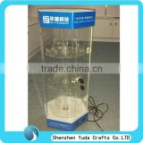 pop design display cabinet case for sale, handmade plastic display case showcase shelf for cell phones