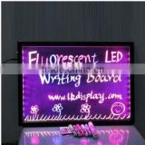 2015 high quality sparkle led writing board with neon effects