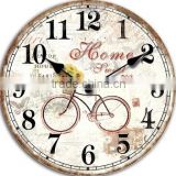 Antique Clock Wall Decorative Bicycle Painting Craft Clock