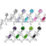 316l stainless steel beautiful lizard belly button ring body piercing jewelry