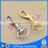 F-257-258 zinc alloy hooks for bags bag hook gold snap hook ,silver samll size bag parts
