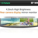 "car mirror monitor 4.3"" rear view mirror car monitor, 4.3"" universal car mirror, clip on type"