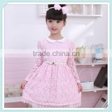 Fashion summer korean models girl sleeveless waistband princess chiffon dress casual fashion beauty kids dress