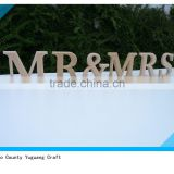2015 hot sell wedding decor Mr and Mrs Signs for Sweetheart