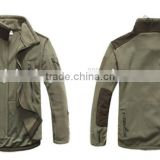 Military warm polar fleece windproof winter jacket for men