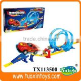 toy rubber track, battery operated kids toy race cars track