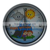 Creative cartoon baby small round wall clock