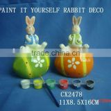 figurine bisque design -DIY ceramic rabbit deco for easter