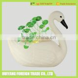 247 new design Garden and home decoration outdoor statues plastic animal figurine swan planter