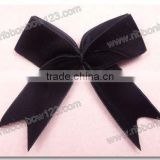 black velvet bow ribbon as cloth bow & garment accessory