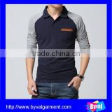 Custom 2016 fashion new design polo shirt for men long sleeve business polo from chinamanufacturer
