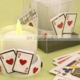 Poker-Themed Candleholder in Gift Box